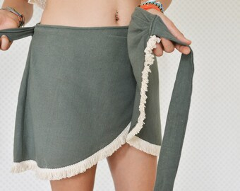 Boho Wrap Skirt, Cotton Free Size Skirt, Festival Fashion, One Size Wrap Around Skirt, Handmade Wrap Skirt