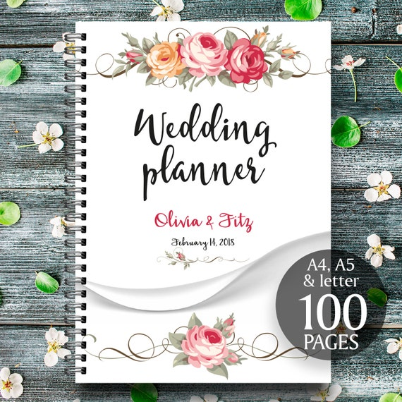 Floral printable wedding planner, Wedding printable binder, Printable wedding planner, DIY floral wedding, Floral PDF planner, Wedding kit