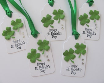 St. Patrick's Day Gift Tags, Shamrock Tags, Happy St. Patrick's Day Gift Tags, Shamrock Gift Tags, Irish Tags, Clover Tags, Shamrock Tags
