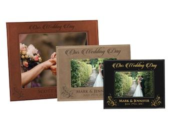 Personalized Wedding Frame, Newlywed Gift, Custom Wedding Frame, Wedding Picture Frame, Personalized Frame Wedding, Engraved Wedding Frame