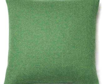 Harris Tweed Cushion Green