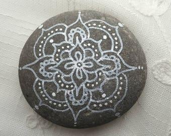 Mandala meditation stone