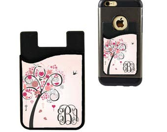 Monogram Cell Phone Caddy/Cell Phone Card Holder/Custom ID Holder/Credit Card Holder/Cell Phone Wallet/Credit Card Wallet/Student ID Holder