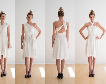 Infinity Wrapdress, doubleface --lace -- Organic -- Fairtrade-- ivory