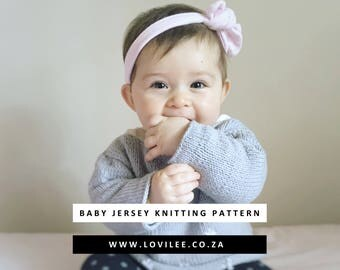 Instant Download Baby jersey PDF KNITTING PATTERN