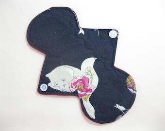 8 inch feminine pad - light absorbency - Fleece Backed - Mama cloth pad- Dove