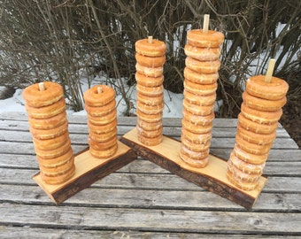Large Log Wood Rustic 50 Donut Stand Wedding party shower wooden, Donut Stand, lumberjack party, boho, wild things are party