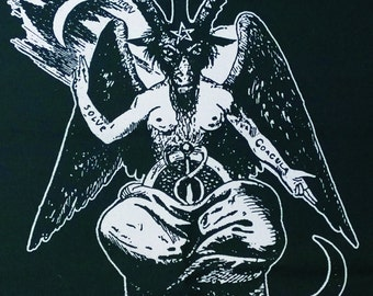 BAPHOMET SHIRT dictionnaire infernal demon ouija satan witch magik goat satanic devil