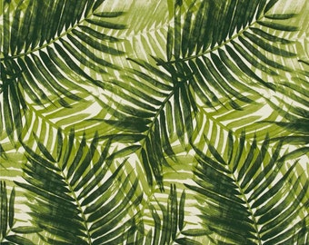Palm Upholstery Fabric, Green Palm Fronds Indoor/Outdoor Tropical Fabric, Tropical Outdoor Pillow Cover Fabric, Palms Fabric By The 1/2 Yard