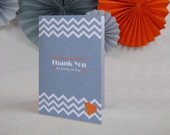 Geometric Chevron Wedding Thank You card