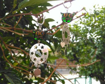 Handmade Glassbead Cats, Earrings