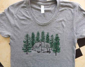 Women's Vintage Camper Tri-blend t-shirt, Size S-XXL
