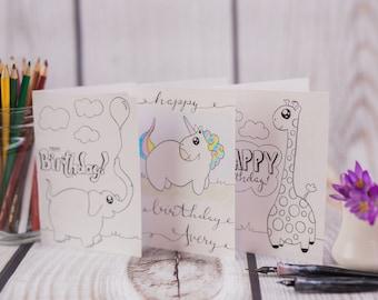 Coloring Cards - Set of 4/Original