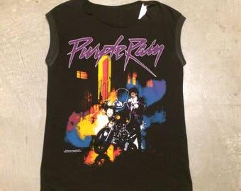 Vintage Prince Purple Rain 1984 Muscle T-Shirt