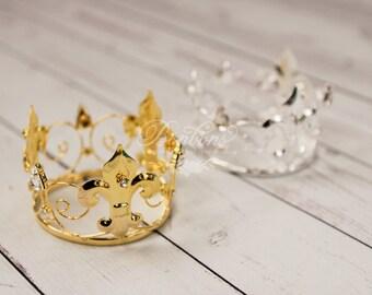 CHOOSE ONE Newborn Crown, Baby Crown, Princess Prince Crown, Newborn Photo Prop, Baby Prop Photography Prop, Crown, Infant Crown, Crowns RTS