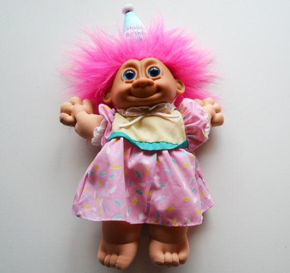 Rare 1980's Russ Berrie 12 Soft Body Troll Doll