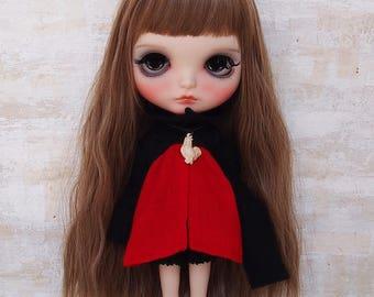 Blythe dress/Netsuke dress03/cotton/wool/kimono fabric/by T-kuma66.