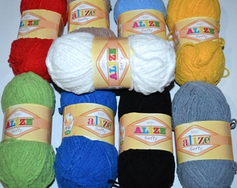 Baby yarn. Fantasy yarn Alize Softy.