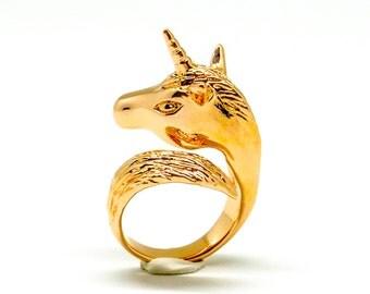 Rose Gold Unicorn Ring