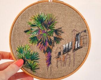 Cité des Fleurs - Embroidered hoop for home decoration