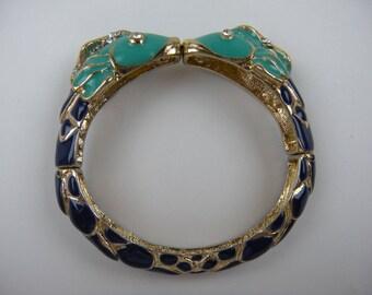 Colorful Enameled Fish Bracelet