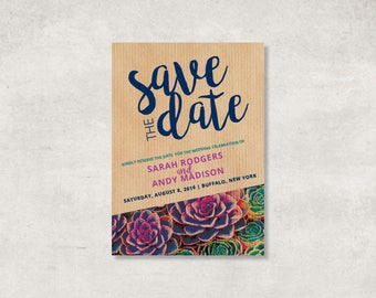 Succulent Wedding Package | Succulent Wedding Invitations | Succulent Wedding Announcement | Succulent Wedding Invitation Kits