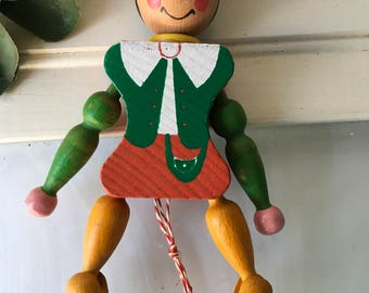 Vintage Pull String Austrian Wood Toy