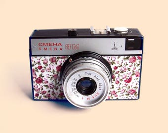 Functional Russian Soviet  Vintage camera SMENA 8M manufactured by Lomo  of St. Petersburg