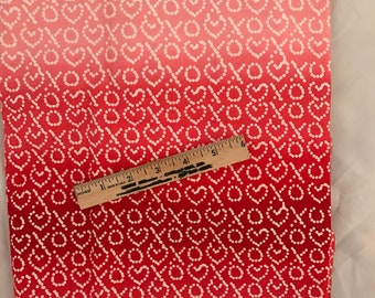 red and pink valentine fabric, valentine fabric, valentine letters fabric, swak fabric, xoxo fabric, red ombre fabric