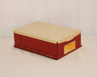 Vintage Kodaslide Compartment File (c. 1950's-1970's) Photography Slide Storage, Eastman Kodak Company, Craft, Jewelry, Metal Storage