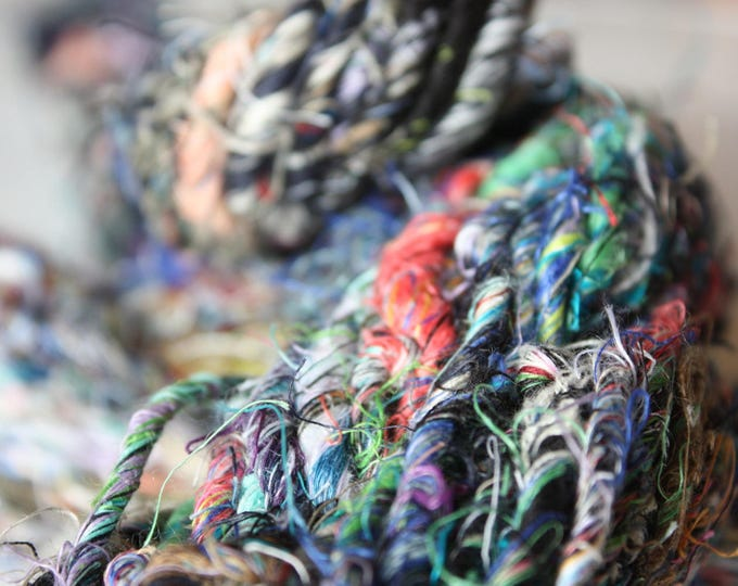 Chunky Recycled Handspun Linen - Multicoloured