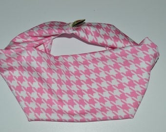 Houndstooth pink Headband