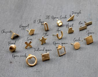 Mismatched Earrings Tiny stud earrings gold Single earring single stud earring mix match earrings mismatched stud earrings Gold post earring