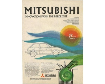 Vintage 1980 magazine ad for Mitsubishi Motors - 3
