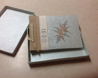 Vintage handmade scrapbook album from in di recycled cotton pulp transparent overlays