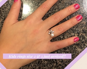 Kids cute sparkly rings - size 2 and 3