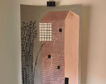 Leopard house . Original illustration