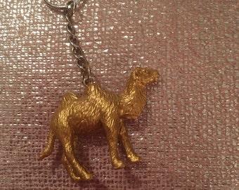 """Gold camel keyring 2"""""""