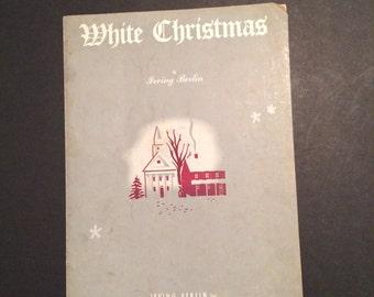 Sheet Music Irving Berlin White Christmas 1942