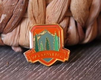 Vintage Wyoming Travel Pin