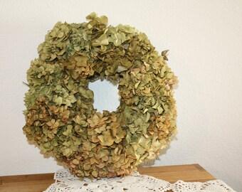 Big dried floral Hydrangea wreath-handmade 28cm  11 inch