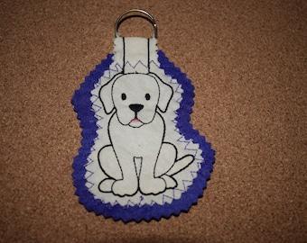 Labrador Keyring, Yellow Labrador Keyring, Labrador Gift, Yellow Labrador, Dog Keyring, Dog Gift, Handmade Keyring, Fabric Keyring
