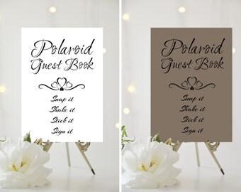A4/A5 Printed Wedding Sign - Polaroid Guest Book
