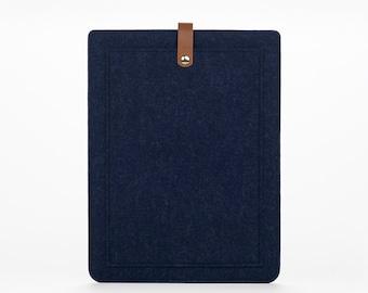 New MacBook Pro 15  Sleeve – MacBook Case – New MacBook Pro 15 Cover - MacBook Leather - Felt Leather Case - Macbook Sleeve - Front Pocket