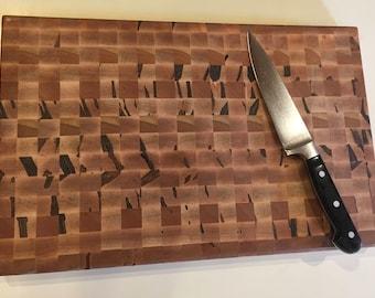 Hardwood Cutting Board, End Grain Cutting Board, Walnut Cutting Board, Ambrosia Cutting Board, Butcher Block, Chopping Board