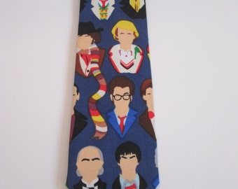 Doctor Who Necktie - All Doctors multi-color necktie