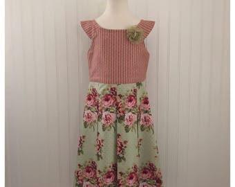 Girls dress, girls spring dress, girls summer dress, girls party dress, girls flower dress