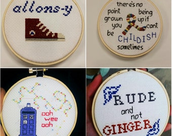 Small Doctor Who Cross Stitch