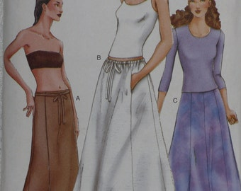 Vogue 7280 Pattern Skirt Below Waist A-Line or Flared Size 14 16 18 Uncut Easy