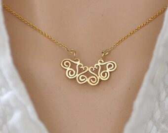 14k Gold pendant , Gold Delicate Pendant , Gold Dainty Pendant , 14k Gold Small Pendant, 14k Gold Dainty Necklace, 14k Gold Necklace Pendant